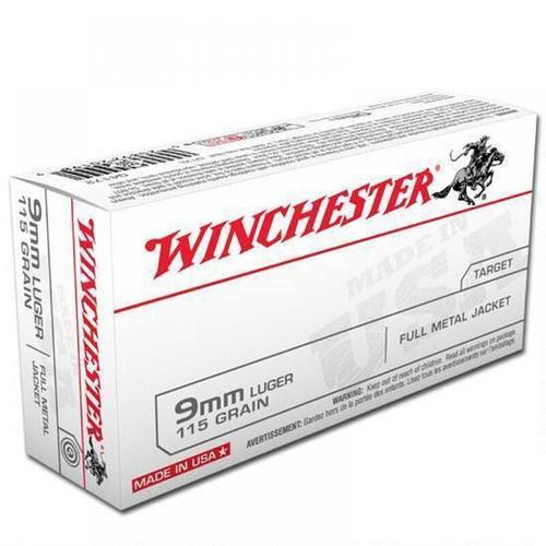 Winchester USA Ammunition 9mm 115 Grain Full Metal Jacket (FMJ) Q4172  - Box of 50?>
