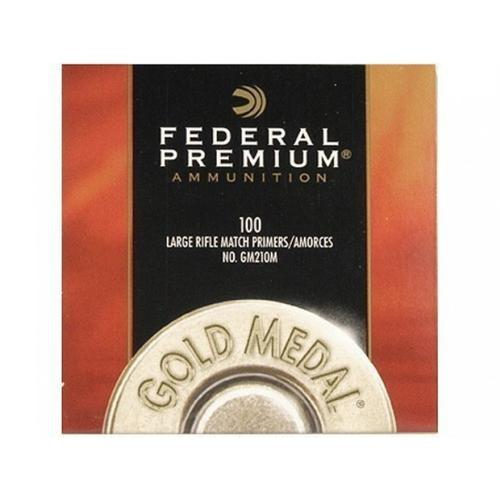 Federal Premium Gold Medal Large Rifle Match Primers #210M - 1 Box, 100 Primers?>