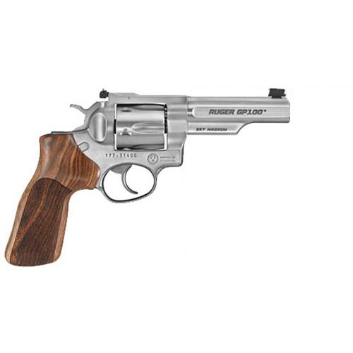 "Ruger 1755 Match Champion GP100 Double Action Revolver, .357 Mag, 4.2"" Barrel, Hogue Stripped Hardwood Grips, Stainless Finish, Fiber Optic Sight, 1755?>"