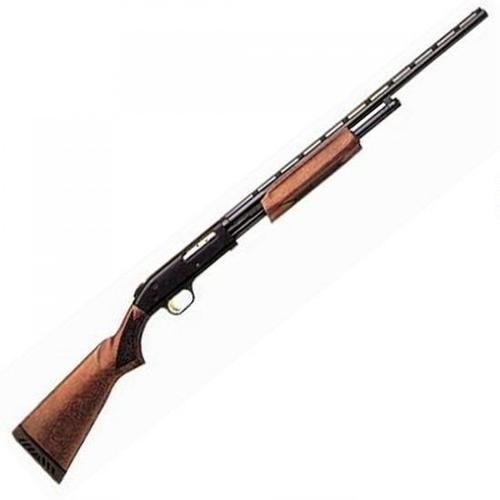 "Mossberg 500 All Purpose Field Pump Action Shotgun .410 Bore 24"" Barrel 6 Rounds 3"" Chamber Full Choke Wood Stock Blued 50104?>"