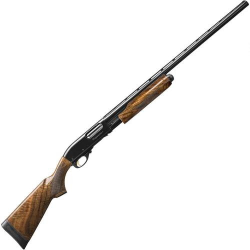 "Remington 870 Wingmaster Claro Pump Action Shotgun 12 Gauge 4 Rounds 28"" Barrel 2-3/4"" or 3"" Chamber Gloss Wood Stock Polish Blued Finish 82010?>"