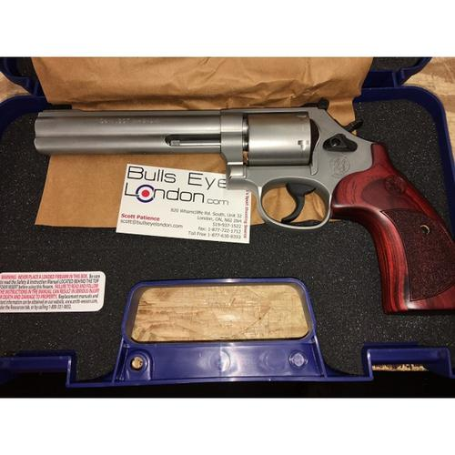 "Smith & Wesson 686 International Revolver, .357 MAG, 6"" Barrel, Stainless, Unfluted Cylinder, 6 Round, 10125?>"