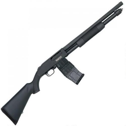 "Mossberg 590M Mag-Fed Pump Action Shotgun 12 Gauge 2-3/4"" Chamber 18.5"" Heavy Walled Barrel 5 Round DBM Synthetic Stock Matte Black 50205?>"