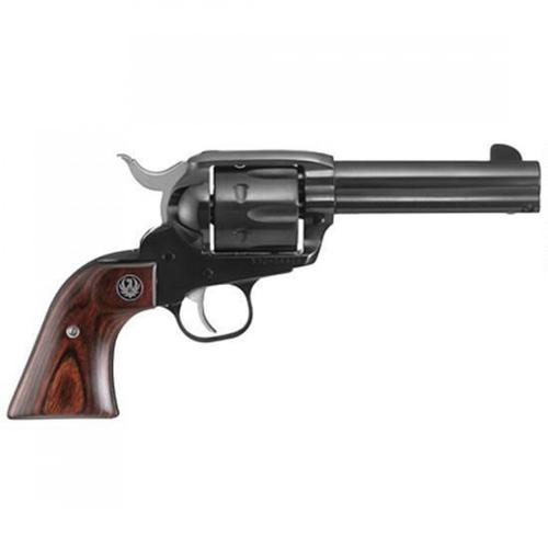 "Ruger New Vaquero Single Action Revolver .45 Long Colt 4.62"" Barrel 6 Rounds Hardwood Grips Fixed Sights Alloy Steel Blued Finish 5102?>"