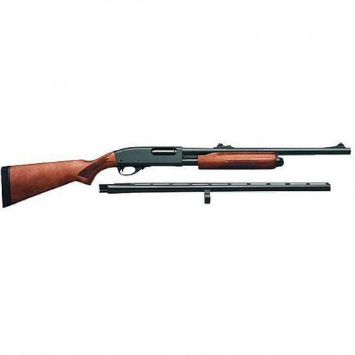"Remington 870 Express Super Magnum Pump Action Shotgun Combo 12 Gauge 26"" & 20"" Barrels Up to 4 Rounds Checkered Hardwood Stock Blue Barrels 25114?>"