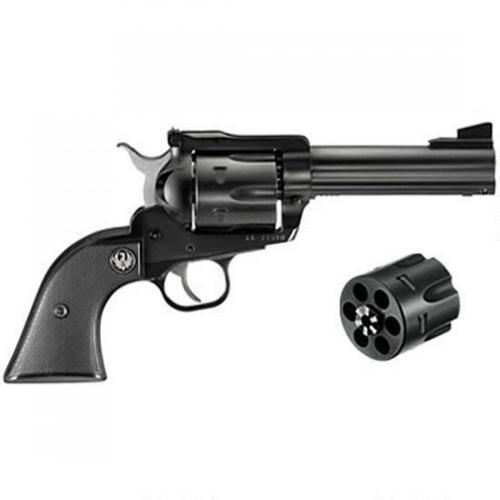 "Ruger New Model Blackhawk Single Action Revolver 6 Rounds Convertible .45 Colt and .45 ACP Cylinders 4.62"" Barrel Blued 0446?>"