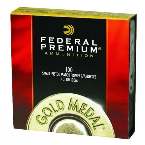 Federal Premium Gold Medal Small Rifle Match Primers #GM205M - 1 Box, 100 Primers?>