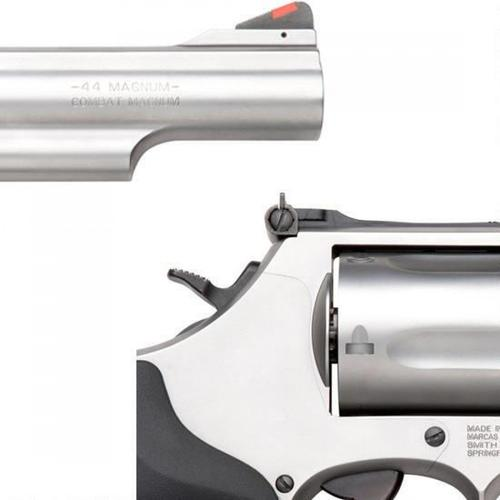 "Smith & Wesson Model 69 Combat Magnum Revolver, .44 Mag, 4.25"" Barrel, 5 Rounds, Synthetic Grip, Glass Bead Finish, 162069?>"