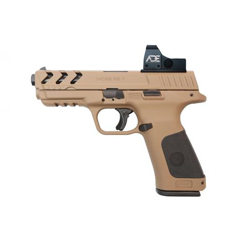 "Girsan MC28 SA  Tactical Semi-Auto Pistol, 9mm, FDE, 5"" Barrel, Optic Ready, MC28TXDE?>"
