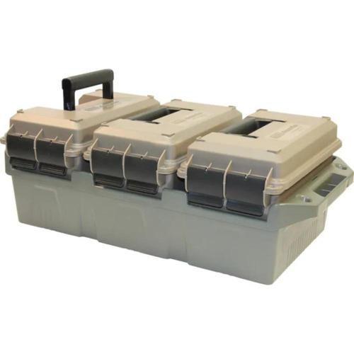 MTM 3-Can Ammo Crate Combo with 50 Caliber Cans Polymer Dark Earth AC3C?>