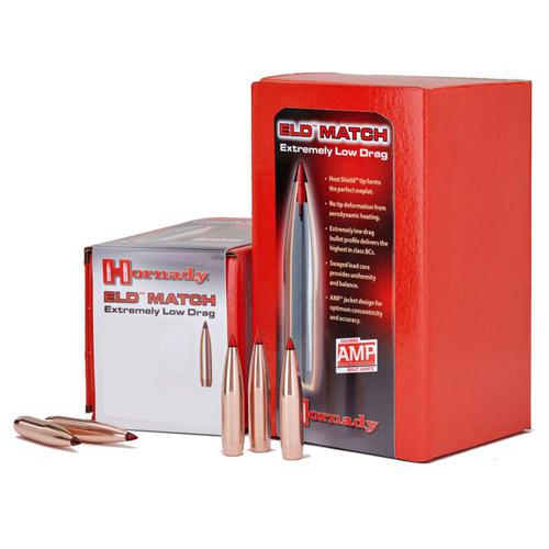 Hornady ELD Match Projectiles .30 Caliber 308 Diameter 155 Grain ELD Match Boat Tail 100 Count?>