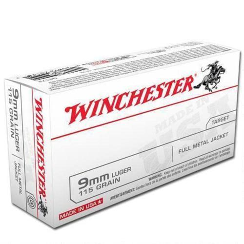 Winchester USA Ammo 9mm 115gr FMJ  - Box of 50?>