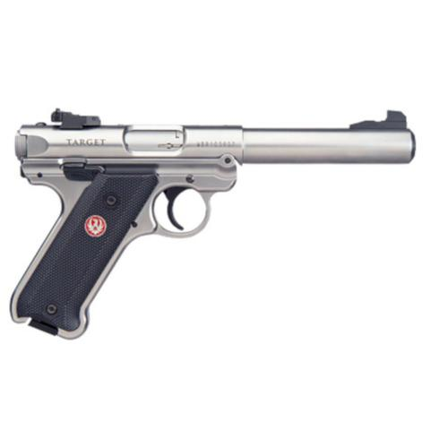 "Ruger Mark IV Target Semi-Auto Pistol .22LR 5.5"" Barrel Black Syn Grip Stainless Finish 10 Round Adjustable Sights 40103?>"