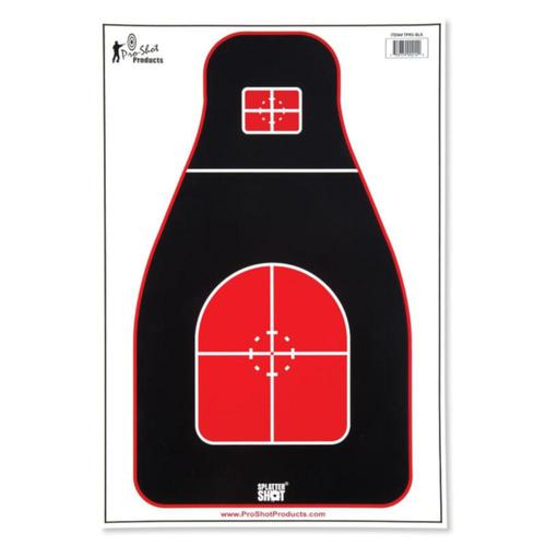 "Pro-Shot 12""x18"" Tactical Precision Target TPRS-BLK-8PK - 8 Pack?>"