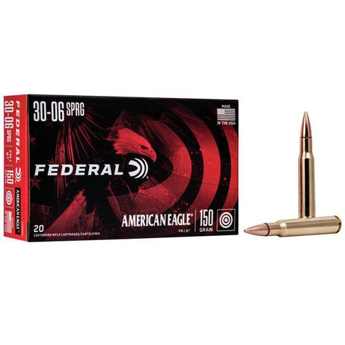 Federal American Eagle .30-06 Springfield 150 Grain FMJ 20 Round Box?>