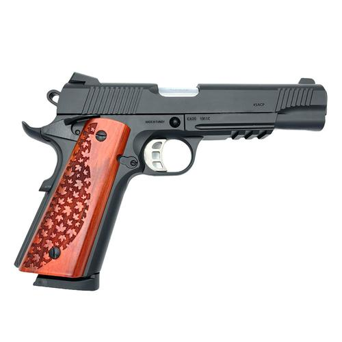 "Canuck 1911 Semi-Auto Pistol .45 ACP Blued 5"" Barrel Single Action 8 Rounds?>"