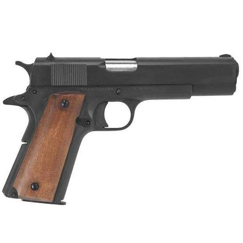 "Rock Island Armory 1911 9mm Semi-Auto Pistol 5"" Barrel Wood Grips?>"