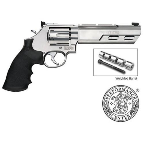 "S&W 629 Competitor Revolver w/Weighted Barrel 44 Magnum 6"" Barrel Hogue Grip Stainless Finish 6 Round 170320?>"