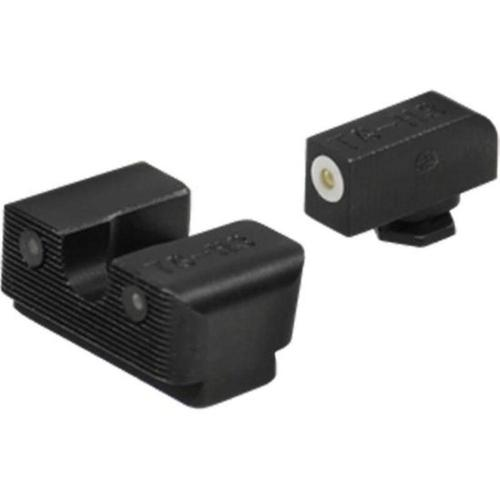 Truglo Tritium Pro Sight Set Glock 17/17L/19/22/23/24/26/27/33/34/35/38/39 Gen 1-5 Tritium Green with White Front Outline TG231G1W?>