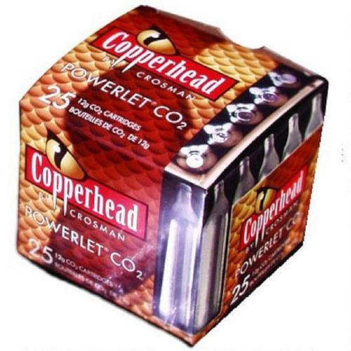 Crosman Copperhead CO2 Cartridge Powerlets Stainless Steel 12 Grams 2311 - Pack of 25?>