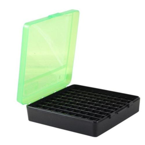 MTM Flip-Top Ammo Box 40 S&W 10mm Auto 45 ACP 100-Round Plastic Black/Green?>