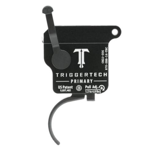 TriggerTech Remington 700 Primary Drop In Replacement Trigger Right Hand/Bolt Release/Curved Lever PVD Black Finish R70-SBB-14-TBC?>