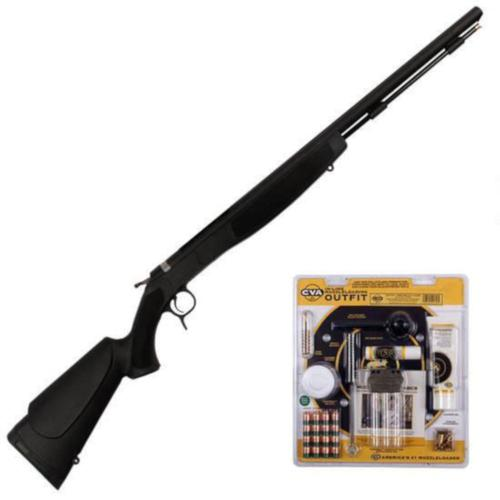 "CVA Optima V2 Muzzleloading Rifle Break Action .50 Caliber 26"" Barrel Single Shot Synthetic Stock Black PR2020VP?>"