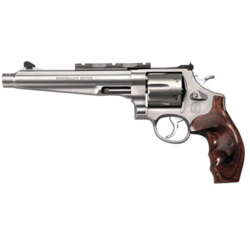 "S&W 629 Revolver 44 Mag / 44 Special 7.5"" Barrel Wood Grip Matte Stainless Finish 6 Round w/Compensator 170181?>"