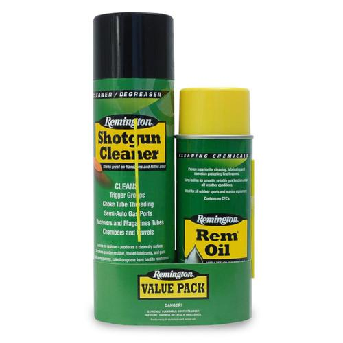 Remington Shotgun Cleaner (18oz) & Rem Oil (10oz) Combo Pack 17323?>