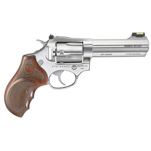 "Ruger SP101 Match Champion Double Action Revolver .357 Mag. 4.2"" Barrel 5 Rounds Hardwood Grips Stainless Steel Finish 5782?>"