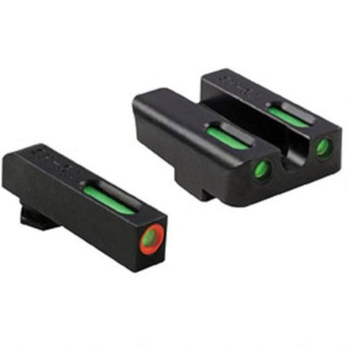 Truglo TFX Pro Front and Rear Set Green TFO Night Sights For GLOCK 17/19/22/23/24/26/27/33/34/35/38/39 Orange Ring Steel Black TG13GL1PC?>