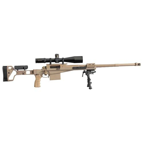 "PGW Defense Timberwolf SWS Bolt Action Rifle, .338 Lapua, 26"" Bbl, Harris Bipod, Tan?>"