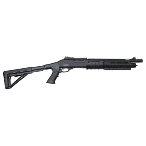 "Canuck Commander Pump Shotgun 12 Gauge 3"" 14"" Barrel Telescoping Pistol Grip Black 4+1 Rnds 3 Mobil Chokes Fibre Optic Sight Black?>"