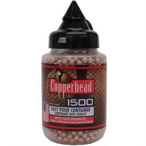 Crosman Copperhead BBs .177 Caliber Stainless Steel Copper Coated 5.23gr 1500 Round Bottle 0737?>