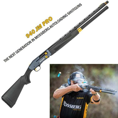 "Mossberg 940 JM Pro Series Semi-Auto Shotgun 12 Gauge 24"" Barrel Tungsten Gray Receiver Gold Accents 85143?>"