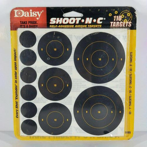 Daisy Shoot-N-C Self-Adhesive Airgun Targets?>