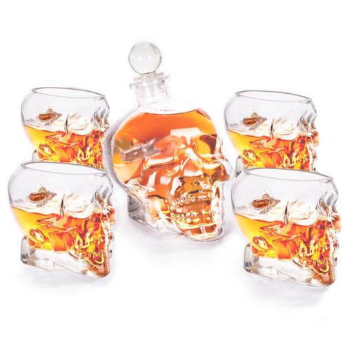 Lucky Shot Skull Headshot Decanter & Whiskey Glass Set?>