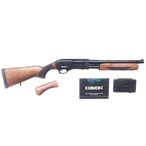 "Canuck Regulator/Defender Combo Pump Action Shotgun 12 Gauge 14"" Barrel Wood Bird Head Style Grip and Fixed Stock CRDCW1214?>"