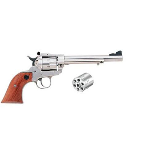 "Ruger Single Six Single Action Revolver .22 LR/.22 WMR 6.5"" Barrel Rosewood Grips Stainless Finish 0626?>"
