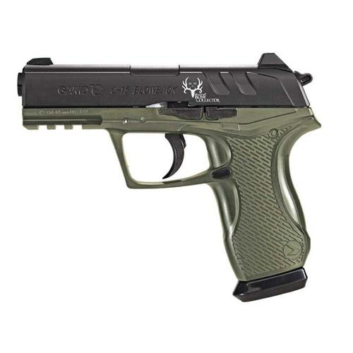 Gamo C-15 Bone Collector Blowback Pistol .177 Pellets/BB's 16 Shots C02 Power Source 430 Feet Per Second Fixed Sights Green/Black Finish?>