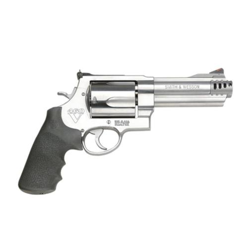 "S&W 460V Revolver .460 S&W Magnum 5"" Barrel 5 Round Stainless Black Rubber Grips Adjustable Sights 163465?>"