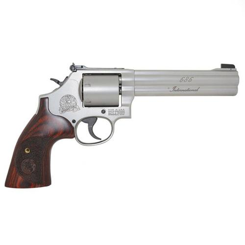 "S&W 686 International Revolver .357 MAG 6"" Barrel Stainless Unfluted Cylinder 6 Round 10125?>"