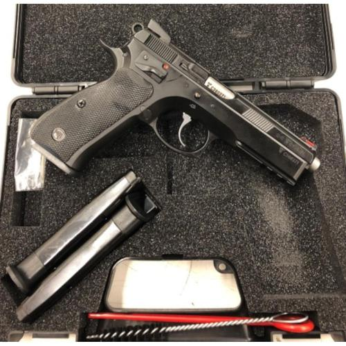 CZ 75 SP-01 Shadow Australian Edition Semi-Auto Pistol 9mm 10 Round Black Polycoat?>