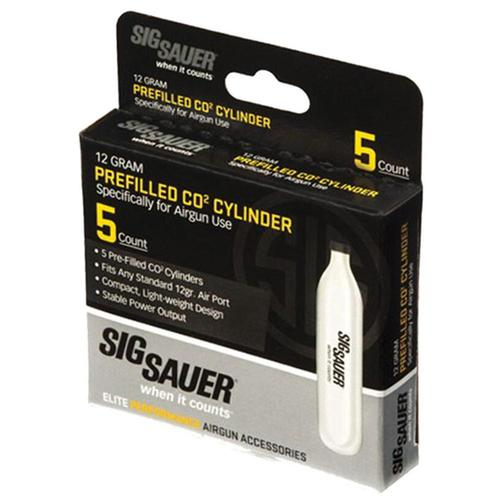 Sig Sauer Prefilled CO2 Cylinder 12 Gram 5 Pack?>