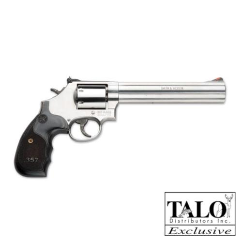"S&W 686 3-5-7 Magnum Series Talo Edition Revolver .357 Magnum 7"" Barrel 7 Round Adjustable Sights Custom Wood Grips Stainless Finish 150855?>"