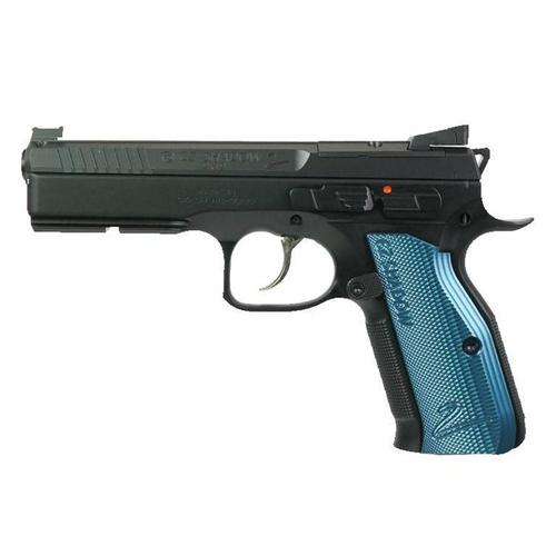 CZ Shadow 2 Optics Ready Semi-Auto Pistol 9mm 10 Round Black w/ Blue Grips?>