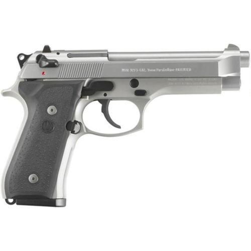 "Beretta 92FS Inox Semi-Auto Pistol 9mm Luger 10 Rounds 4.9"" Barrel Black Synthetic Grips Stainless Steel JS92F500?>"