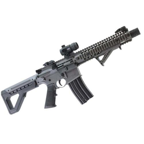 Crosman DPMS SBR Special Edition Air Rifle BB Full Auto with Red Dot Stealth Grey DSBRSGX?>