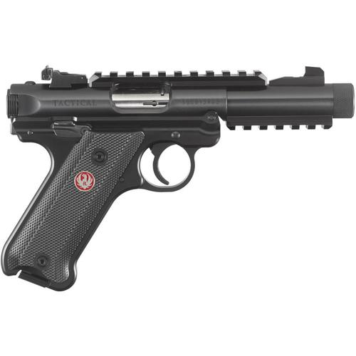 "Ruger Mark IV Tactical Semi-Auto Pistol .22LR 4.4"" Threaded Barrel 10 Rounds 40150?>"