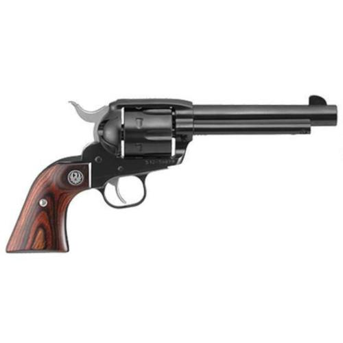 "Ruger New Vaquero Single Action Revolver .45 Long Colt 5.5"" Barrel 6 Rounds Hardwood Grips Fixed Sights Alloy Steel 5101?>"